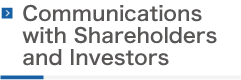 Communications with Shareholders and Investors